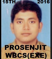Interview With Mr. Prosenjit Kundu Rank 15 WBCS (Exe.) Etc. Exam 2016