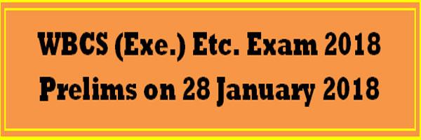 WBCS Preliminary Exam 2018